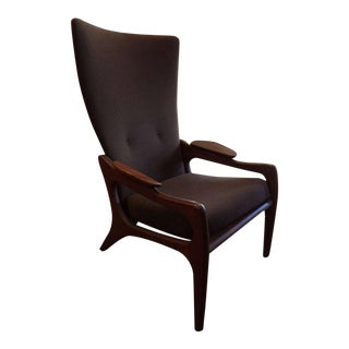 Adrian Pearsall Sculptural Wing Back Lounge Chair