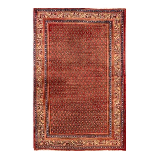 "Apadana - Vintage Red Persian Hamadan Rug, 4'4"" x 6'7"""