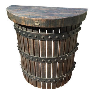 Custom Half Round Wall Wine Press Table For Sale