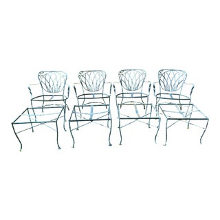 Vintage Russel Woodard Patio Furniture Set of 8 For Sale