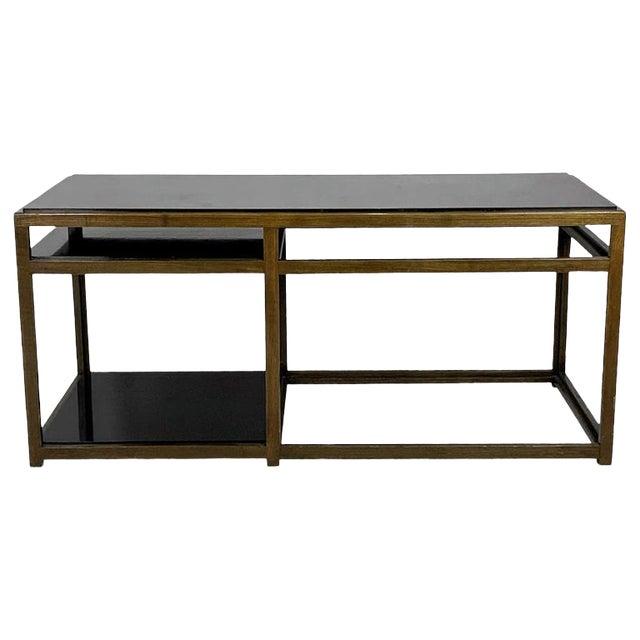 Edward Wormley for Dunbar Black Micarta & Ash Model 5403 End Table W/ Shelf For Sale
