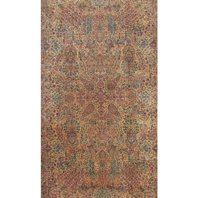 """Islamic Pasargad N Y Antiuque Persian Lavar Kerman Hand Knotted Rug - 9'10"""" X 16' For Sale - Image 3 of 3"""