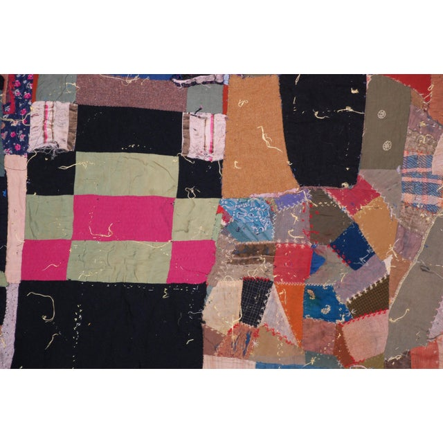 19th Century American Crazy Quilt For Sale - Image 4 of 8
