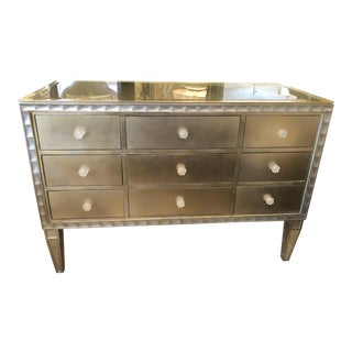 Custom Made Hollywood Regency Style Gilt and Silvered Chest For Sale