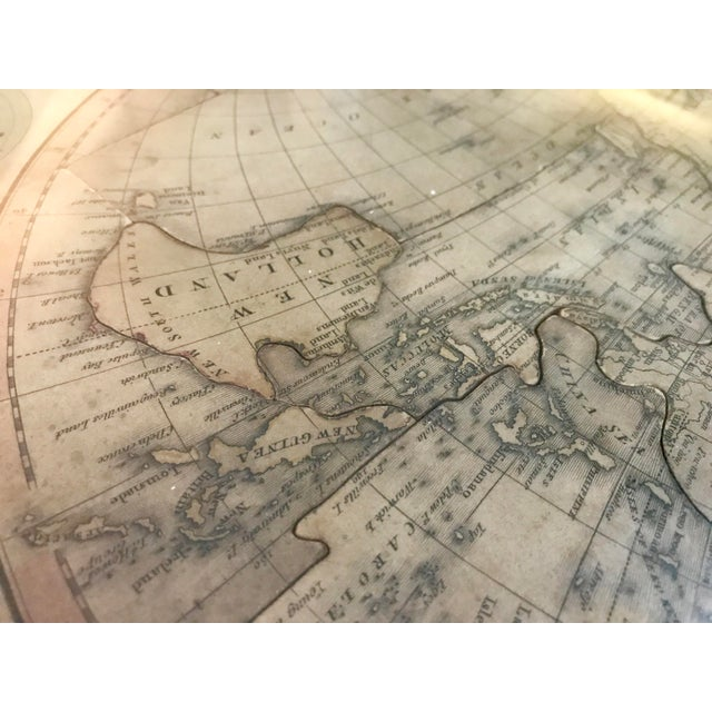 Green John Wallis's New Dissected 1812 Puzzle World Map For Sale - Image 8 of 10