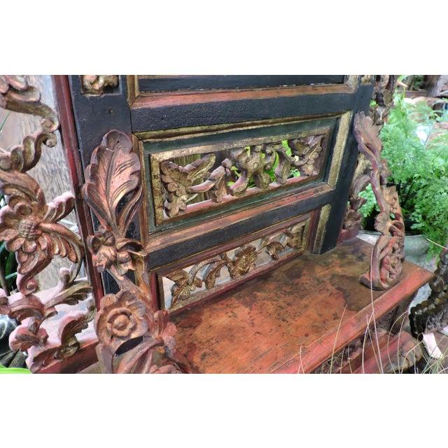 Ornately Carved Vanity Mirror From Madura Island - Image 3 of 7