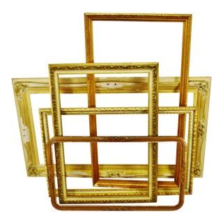 Vintage Large Wood Picture Frames - Group of 5 For Sale