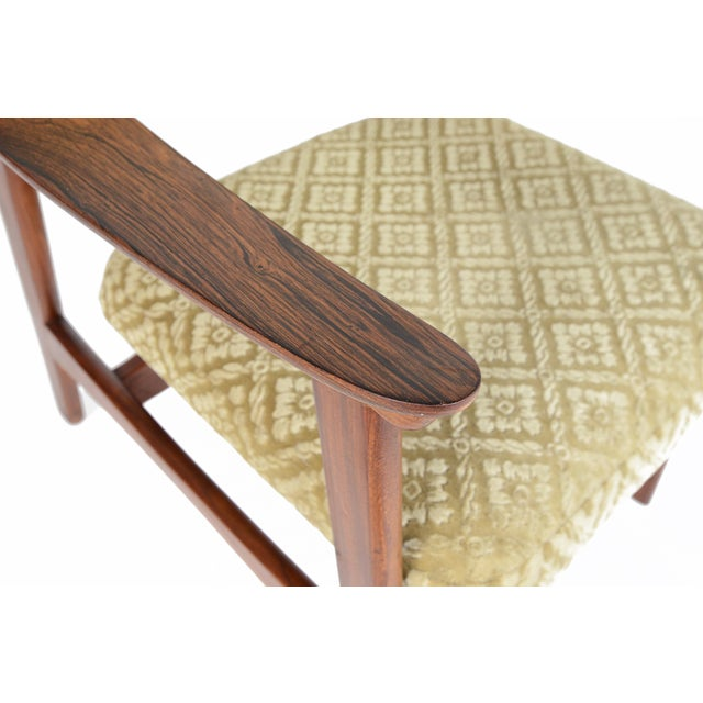 Danish Modern Rosewood & Mohair Armchair - Image 9 of 10