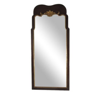 Rectangular Henredon Mirror with Gold Leaf For Sale