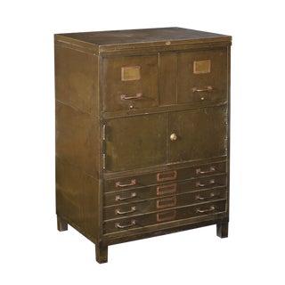 Art Metal Steel Flat File & Cabinet For Sale