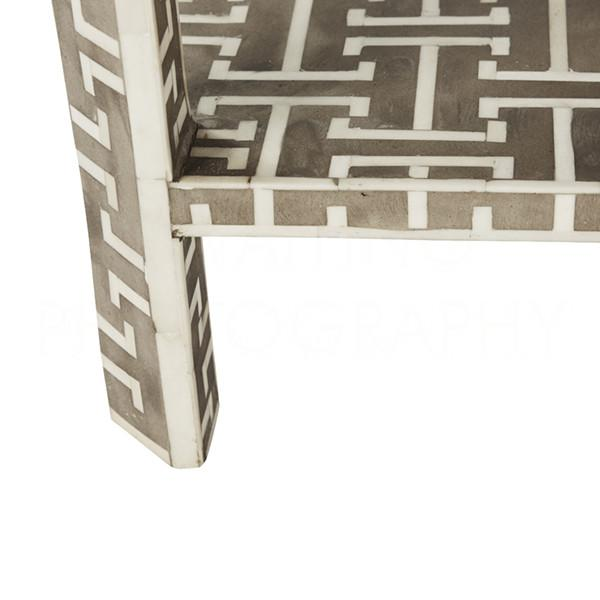 Hermès Hermes Inlaid Bone Side Table For Sale - Image 4 of 6