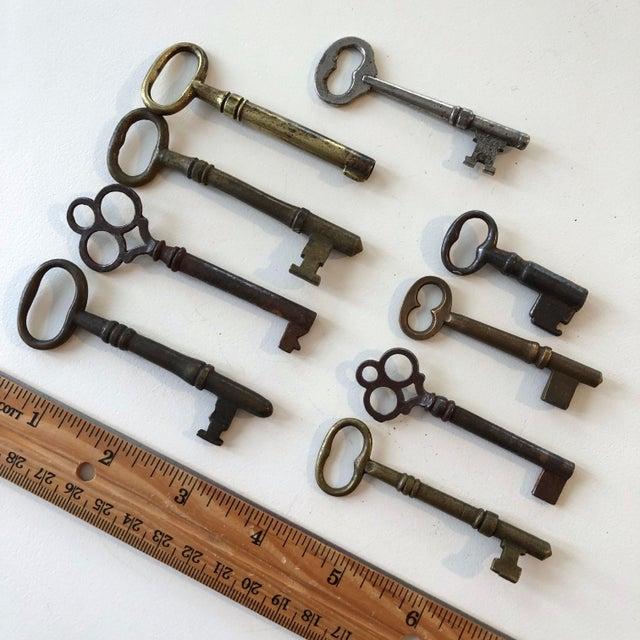Set of 9 Antique & Vintage Skeleton and Door Keys For Sale - Image 4 of 13