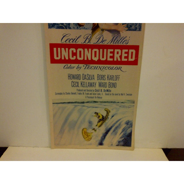 """Vintage Movie Poster """"Unconquered"""" Gary Cooper & Paulette Goddard - 1955 For Sale - Image 4 of 5"""