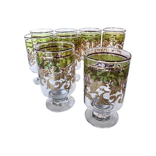 Midcentury Holiday Beverage Glasses - Set of 8