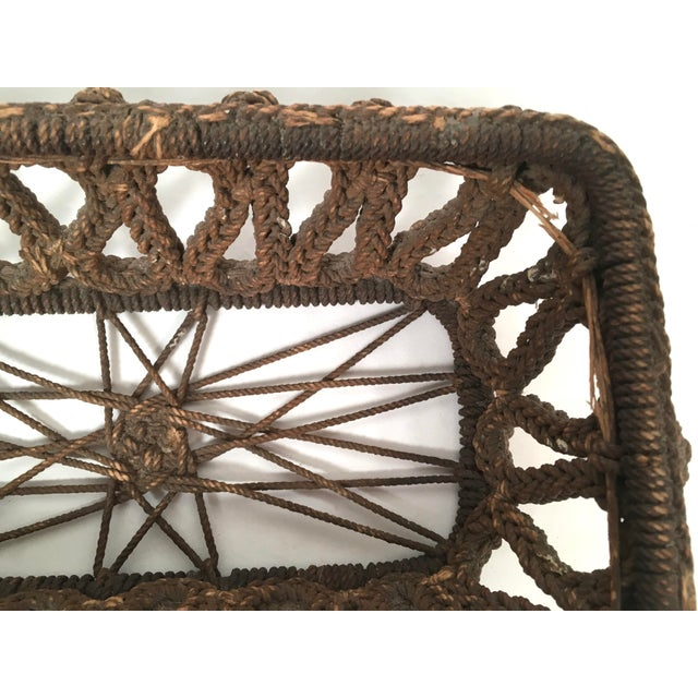 Brown 19th Century Sailor Made Ropework Basket For Sale - Image 8 of 10