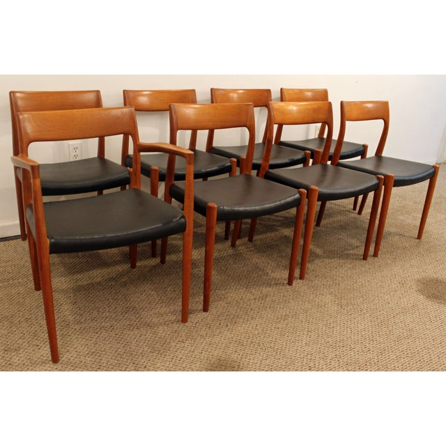 Danish Modern Danish Modern Niels Moller #77 Teak Dining Chairs - Set of 8 For Sale - Image 3 of 11