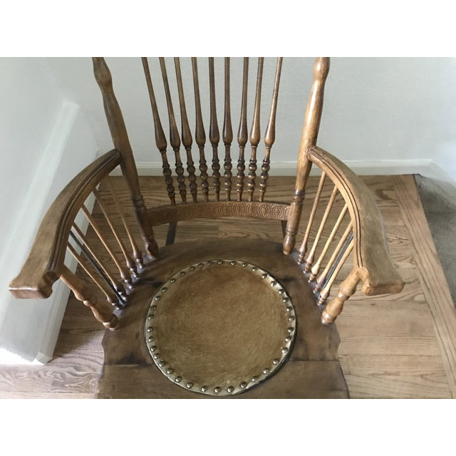Antique Rustic Rocking Chair For Sale - Image 4 of 6