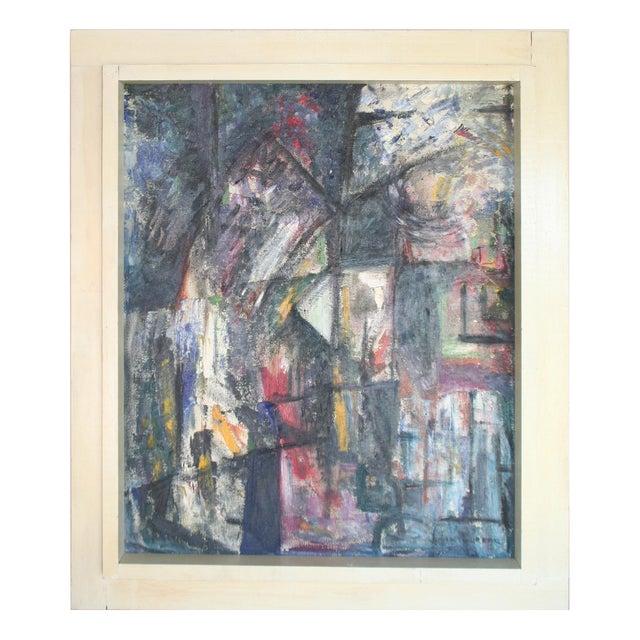 Vintage Julia Bureau Abstract Oil Painting - Image 1 of 7