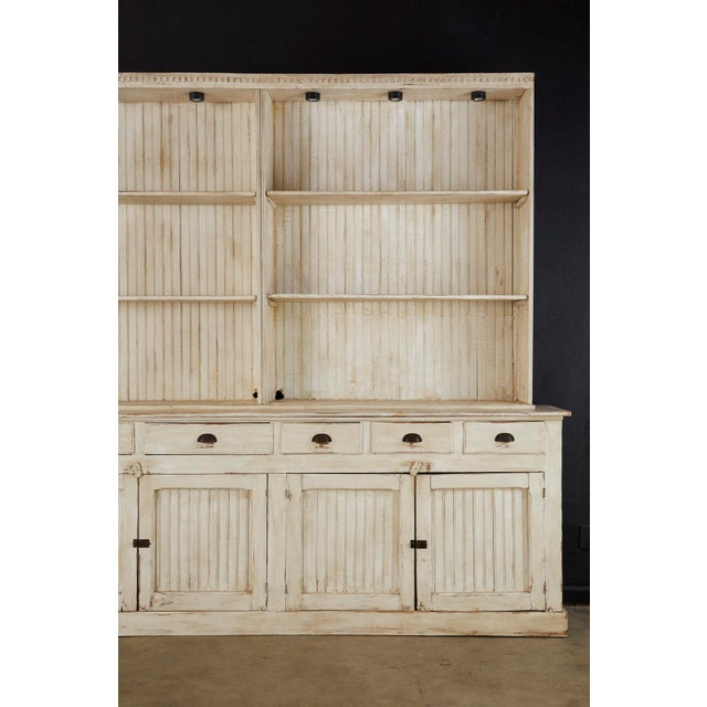 American Painted Pine Kitchen Cabinet Cupboard or Bookcase For Sale - Image 4 of 13