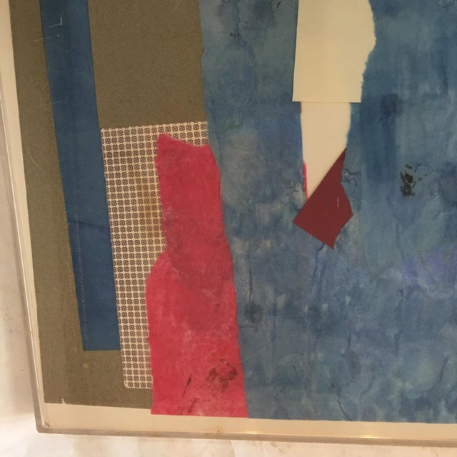 Mitzi Levin Abstract Collage, 1983 - Image 6 of 10