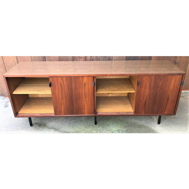 1960s 1960s Florence Knoll Walnut Sideboard For Sale - Image 5 of 9
