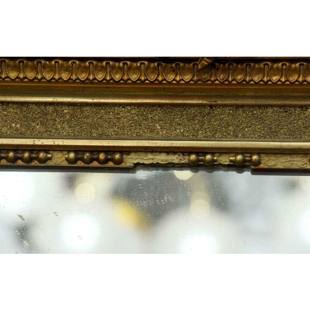 Giltwood French Victorian Carved Gilt Wood Mirror For Sale - Image 7 of 9