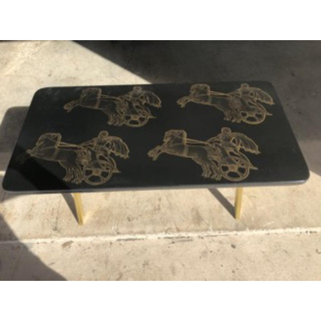 Piero Fornasetti Bighe Neoclassical Coffee Table For Sale - Image 13 of 13