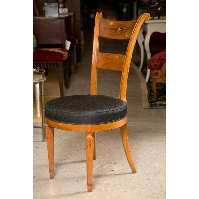 Set Six Biedermeier Style Side Chairs Dining Chairs With Ebony Inlay Can Buy One - Image 4 of 9