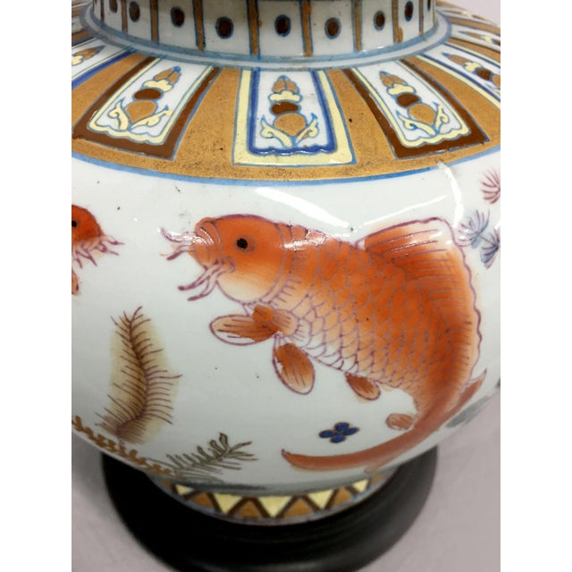 Gold Fish Design Table Lamp For Sale - Image 5 of 6