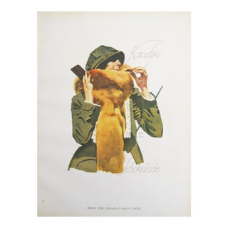 1926 Romantic Woman Wearing a Hat, Original German Poster
