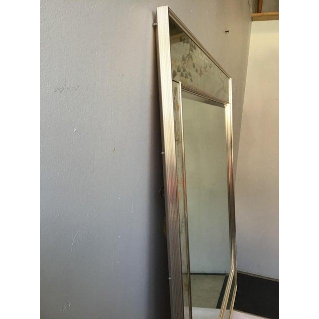 La Barge Floral Silver Leaf Mirror For Sale - Image 4 of 9