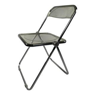 Castelli Italy Mid Century Modern Lucite & Chrome Folding Chair