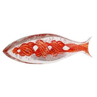Alberto Dona Murano Glass Fish - Red For Sale
