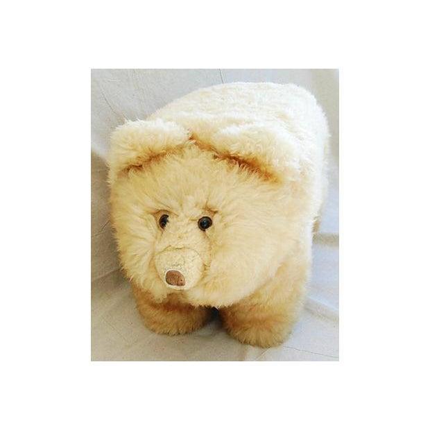 Vintage Lambswool Bear Ottoman - Image 8 of 8