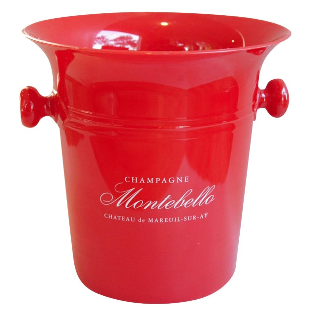 Vintage French Montebello Ice Bucket For Sale