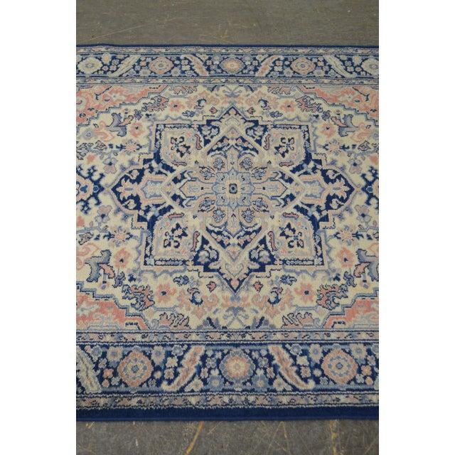 Textile Karastan 4.3' x 6' Blue Heriz Area Rug #748 For Sale - Image 7 of 13