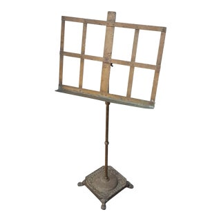 Early 20th Century Traditional Brass Music Stand