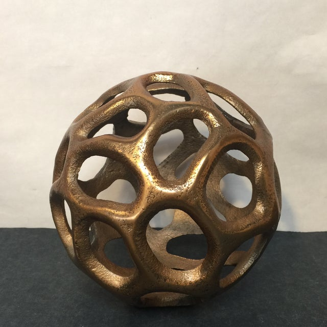 Round Gold Metal Orb - Image 3 of 6