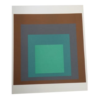 Josef Albers Vintage Large Monotype Homage to the Square, No. Sp-1