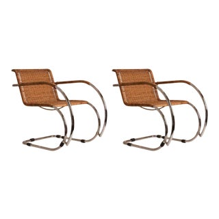 Pair of Mid-Century Mies Van der Rohe MR20 Chairs