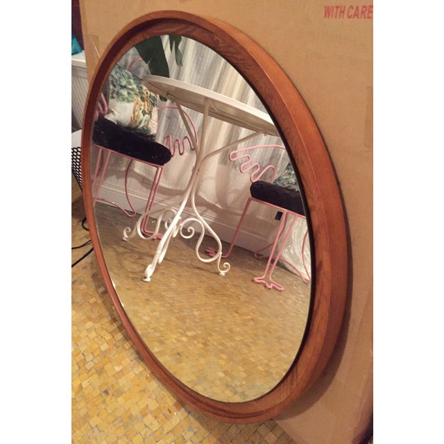 West Elm Floating Round Mirror - Image 3 of 3
