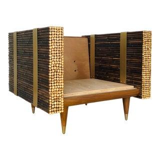 Baker McGuire Organic Modern Bamboo Haybine Lounge Chair For Sale