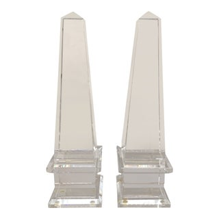 Neoclassical Crystal Obelisks - a Pair For Sale