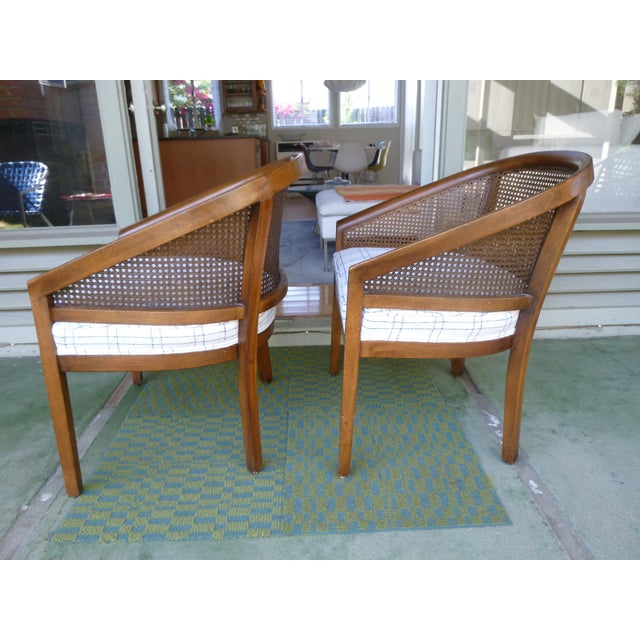 Caning Mid-Century Cane Chairs - A Pair For Sale - Image 7 of 7