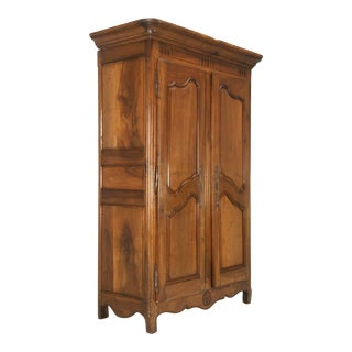 Antique French Solid Walnut Armoire From Toulouse Area, Circa 1775 For Sale