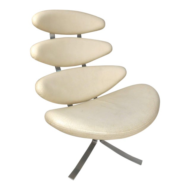 """Poul Volther """"Corona"""" Swivel Lounge Chair For Sale"""