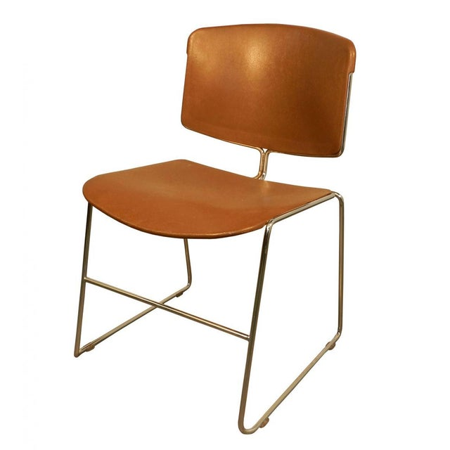Vintage Orange Steelcase Max-Stacker Chair - Image 3 of 3