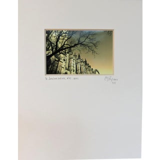Limited Edition Matted Architectural Photography, N Y C Cathedral For Sale