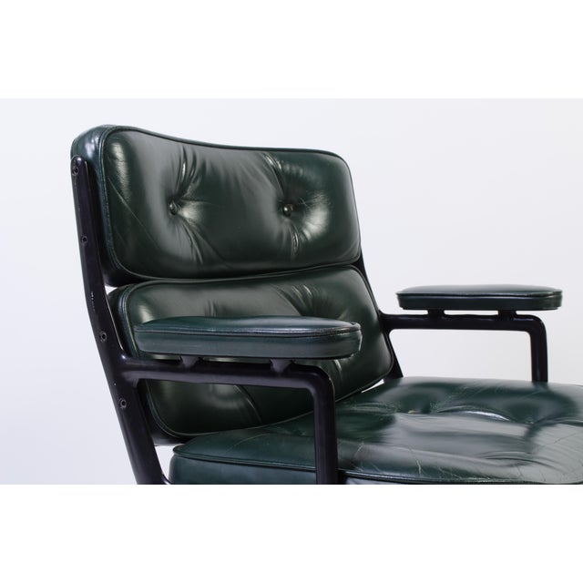 Green Eames Green Leather Time Life Chair for Herman Miller For Sale - Image 8 of 9