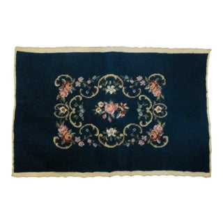 Antique Needlepoint with Flowers